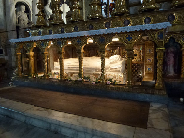 The incorrupt body of St. Bernadette
